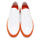 Common Projects White and Orange Achilles Low Sneakers