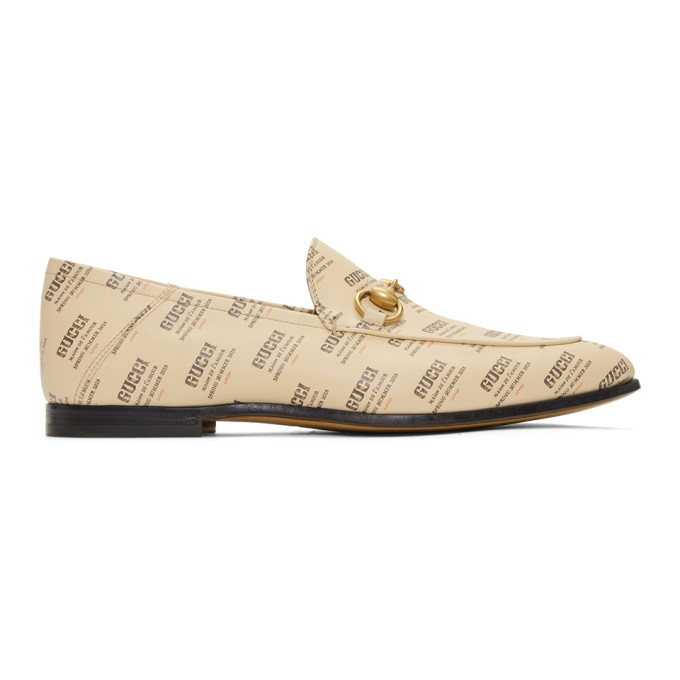 Photo: Gucci Off-White All Over Logo Stamp Brixton Loafers