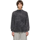 Aries Black Acid Wash Pocket Long Sleeve T-Shirt