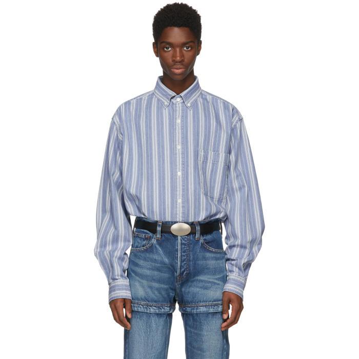 Photo: Balenciaga Blue Striped Denim Shirt
