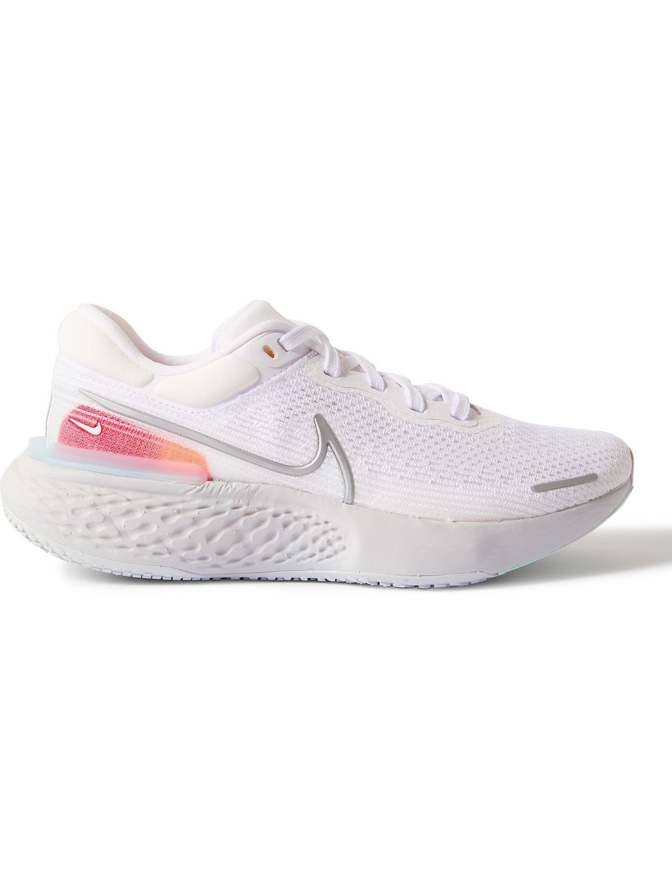 NIKE RUNNING - ZoomX Invincible Run Rubber-Trimmed Flyknit Running Sneakers - White