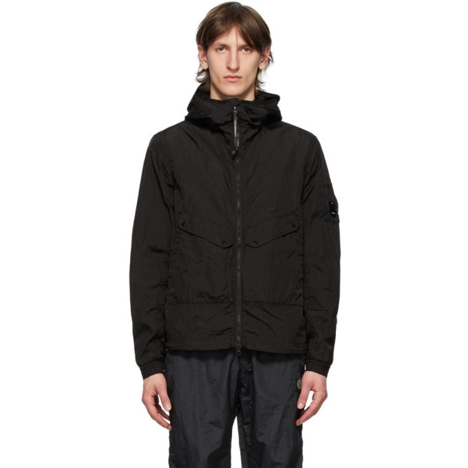 C.P. Company Black Lens Hooded Jacket