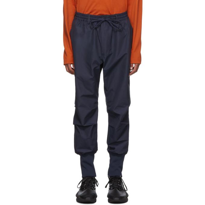 Y-3 Navy Canvas Cargo Pants