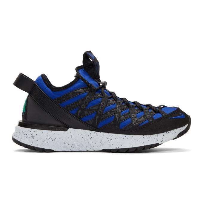 Photo: Nike ACG Blue and Black React Terra Gobe Sneakers