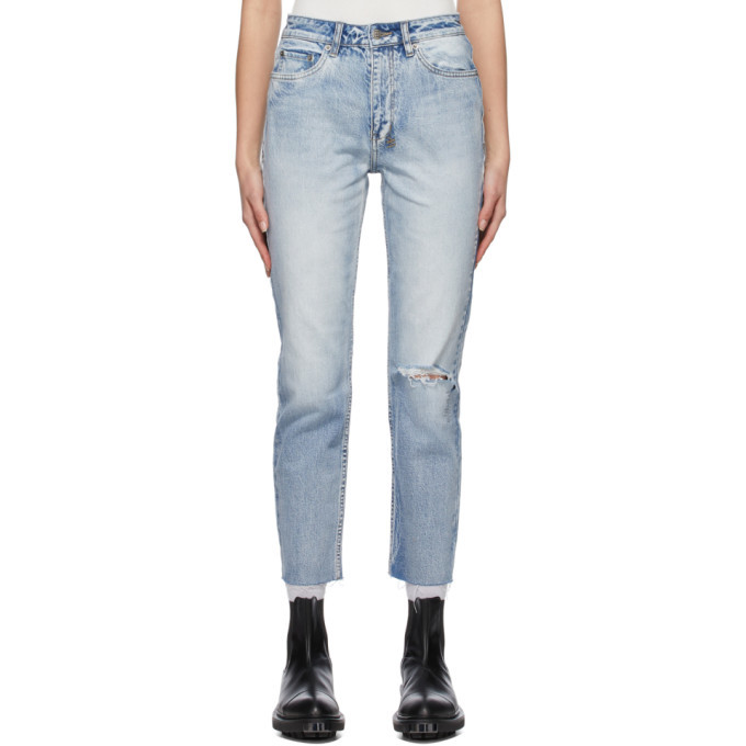 Ksubi Blue Distressed Nine O Jeans