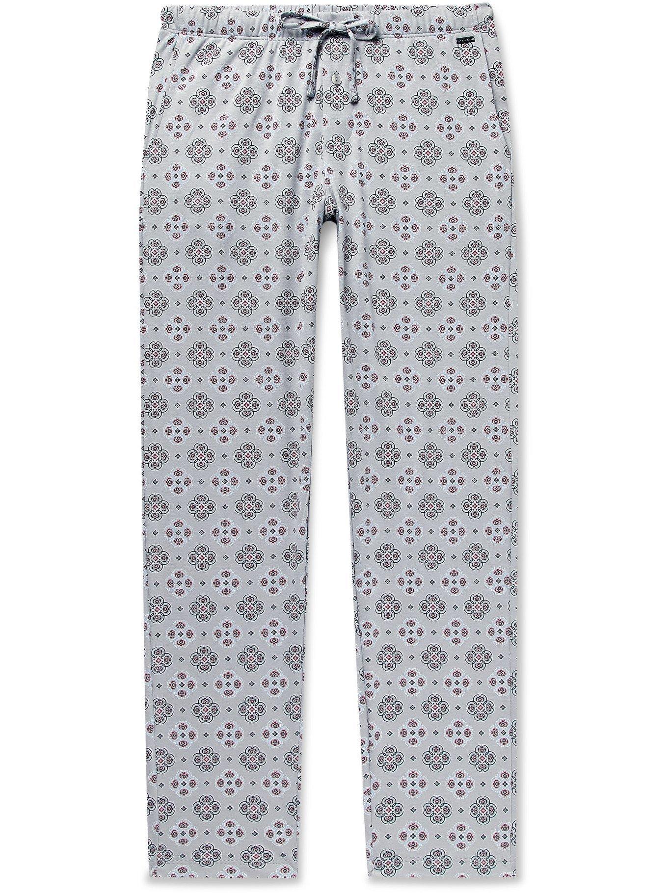 Hanro - Night & Day Printed Cotton Pyjama Trousers - Gray - M