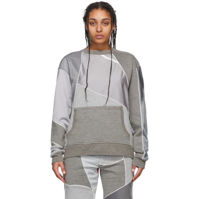 Photo: Ahluwalia Grey Patchwork Crewneck Sweatshirt