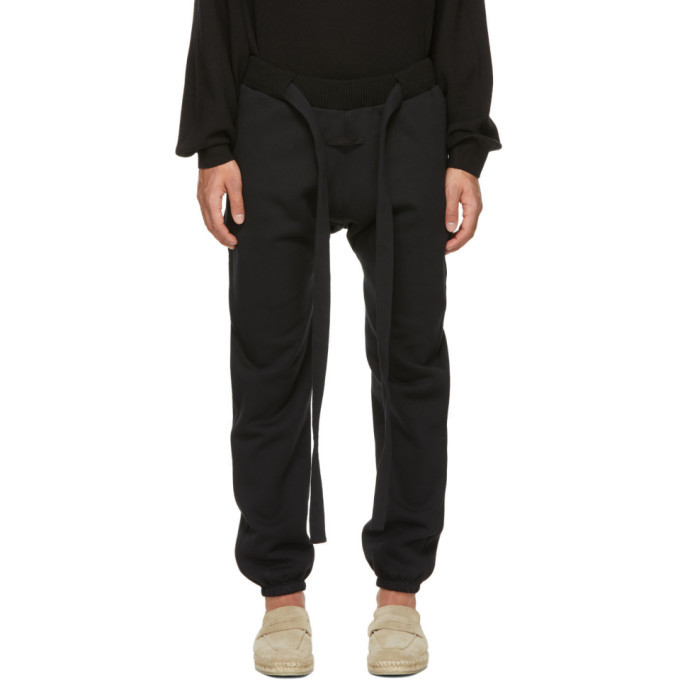 Photo: Fear of God Ermenegildo Zegna Black Fleece Logo Lounge Pants