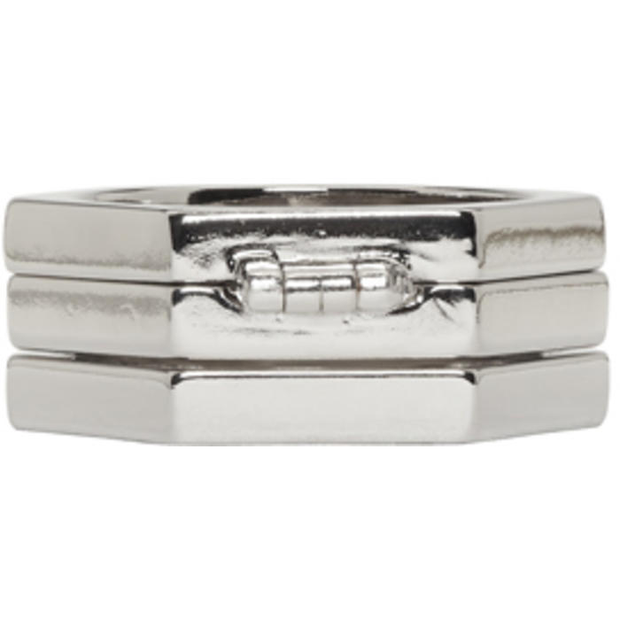 Photo: Valentino Silver Valentino Garavani Stacked Ring