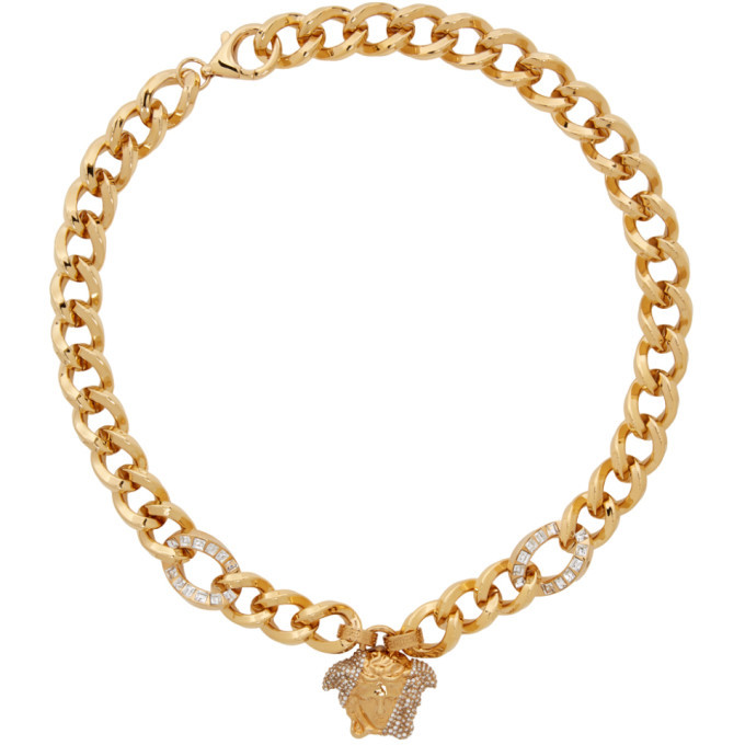 Photo: Versace Gold Palazzo Dia Necklace