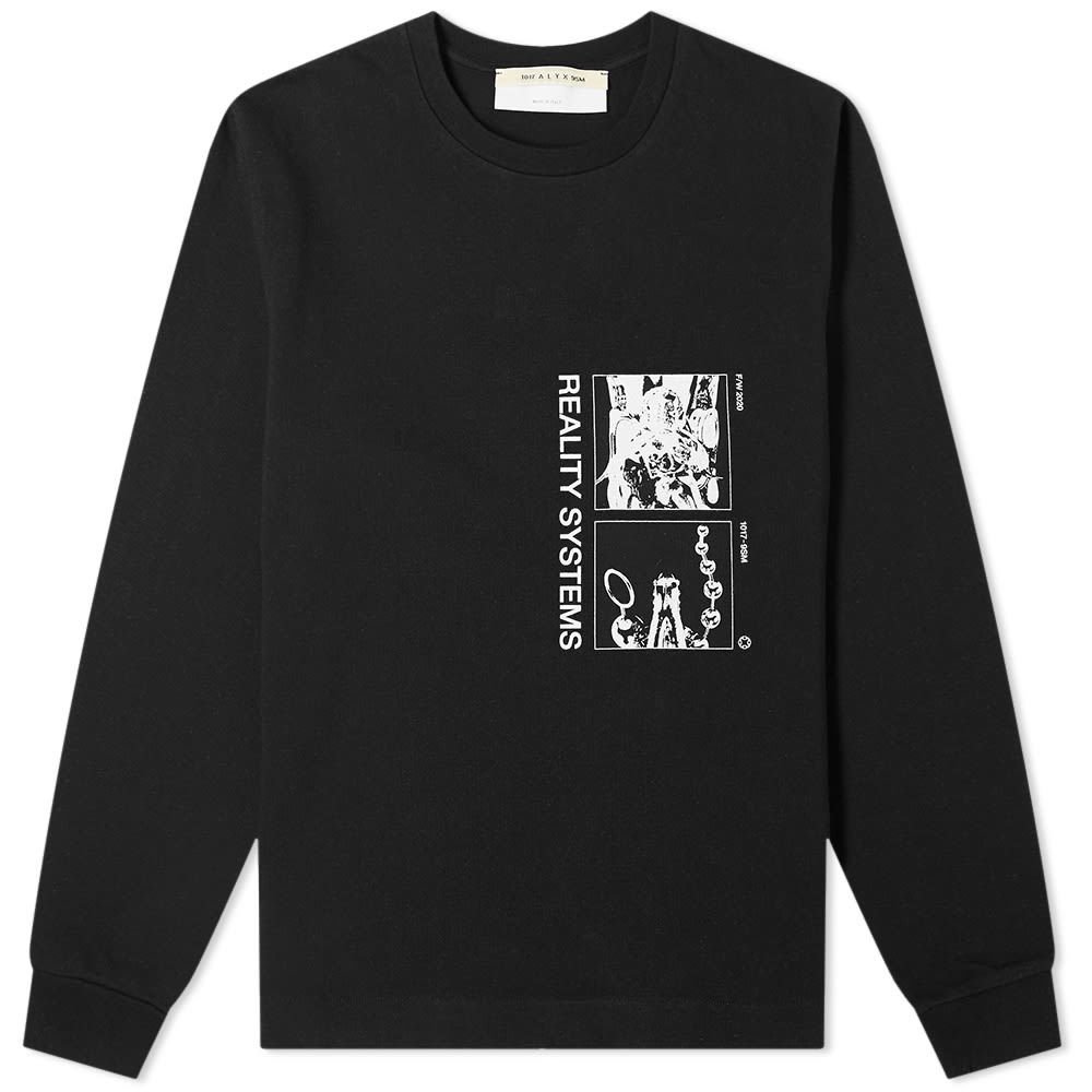 1017 ALYX 9SM Long Sleeve Grid Reality Systems Printed Tee