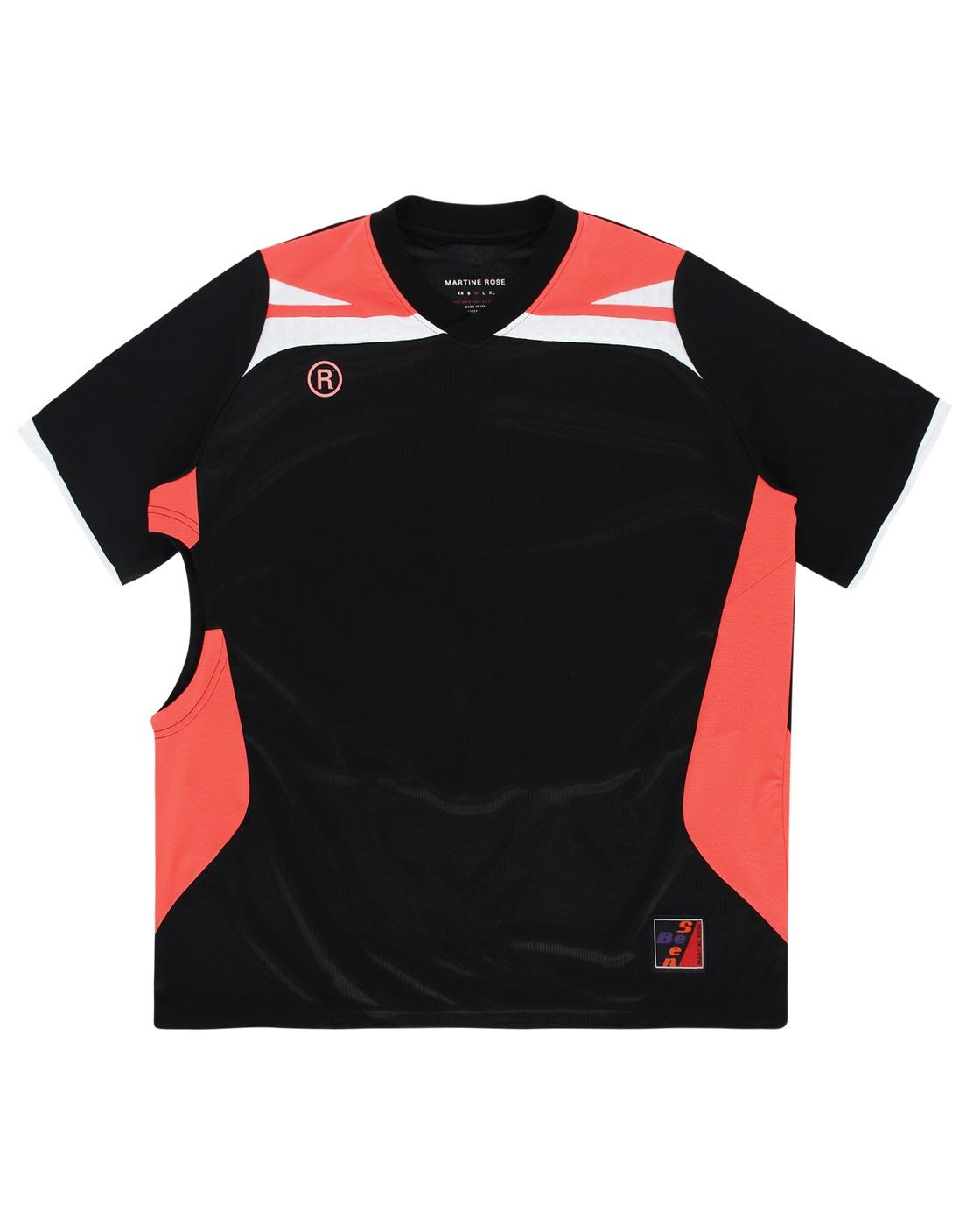 Martine Rose Two Way Football Top Black/Pink