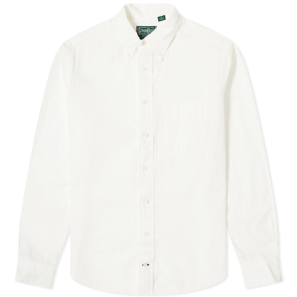 Photo: Gitman Vintage Button Down Overdye Seersucker Shirt