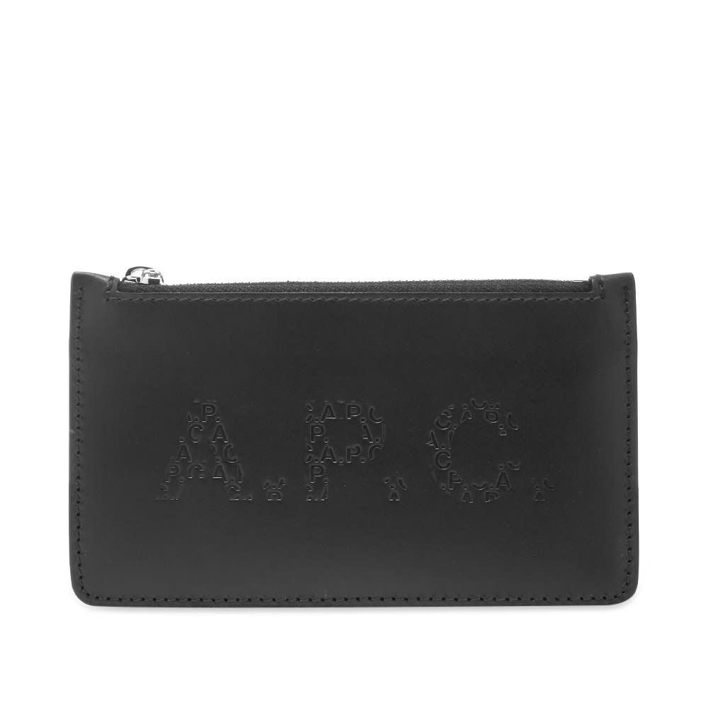 Photo: A.P.C. Walter Embossed Logo Zip Wallet