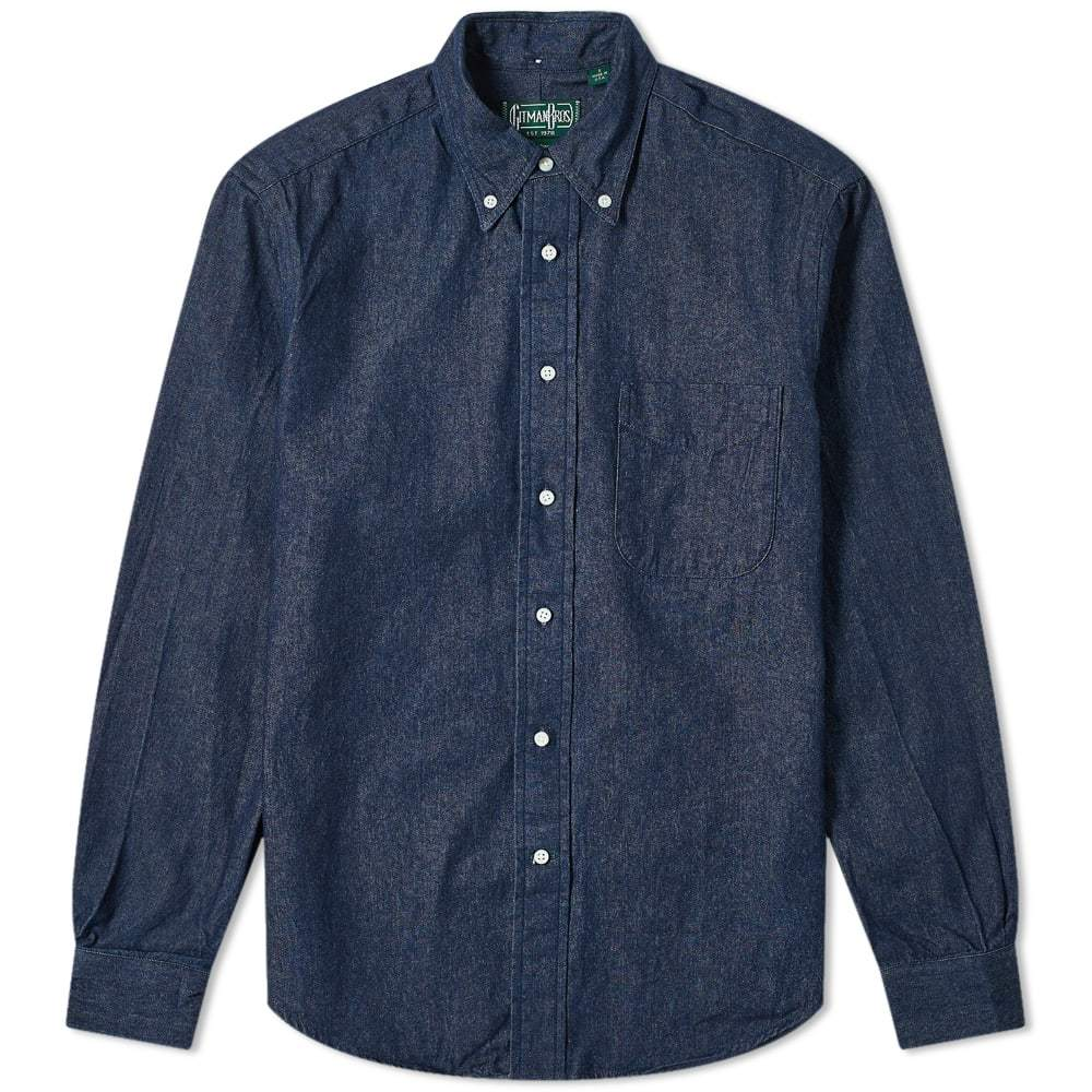 Photo: Gitman Vintage Button Down Dark Denim Shirt