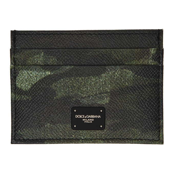 Photo: Dolce and Gabbana Black and Green Camo Card Holder