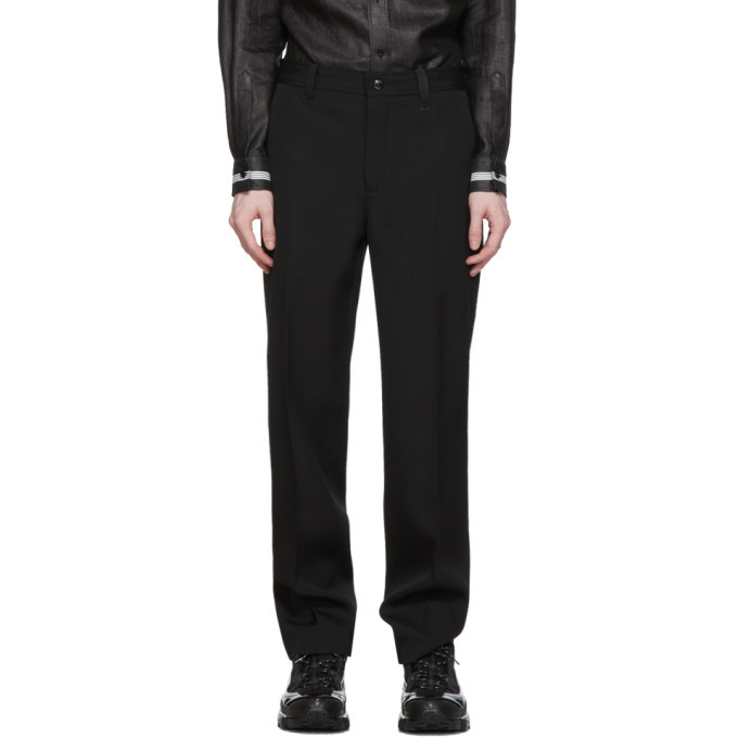 Photo: Burberry Black Wide-Leg Wool Trousers