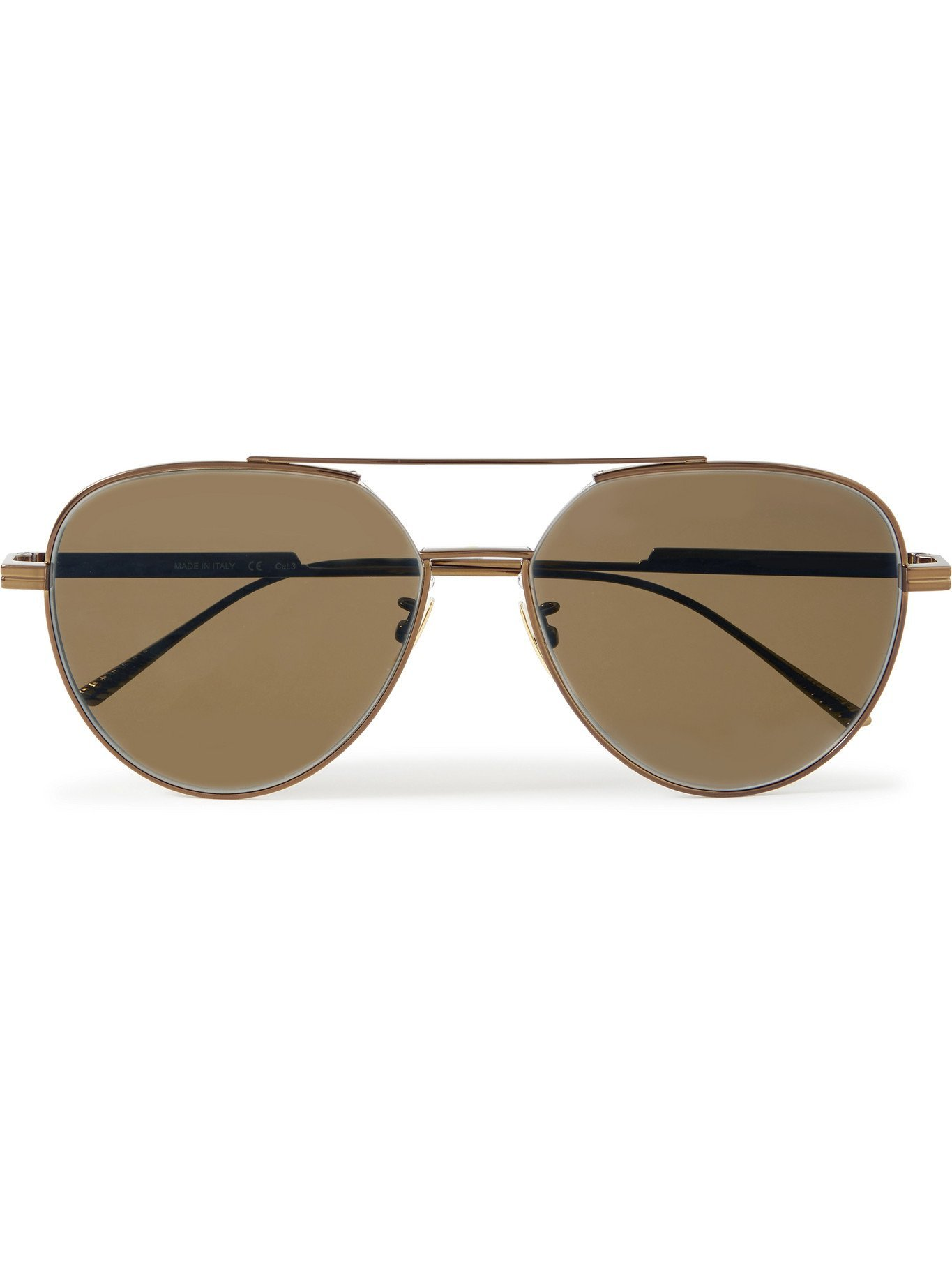 Photo: BOTTEGA VENETA - Aviator-Style Bronze-Tone Mirrored Sunglasses - Metallic