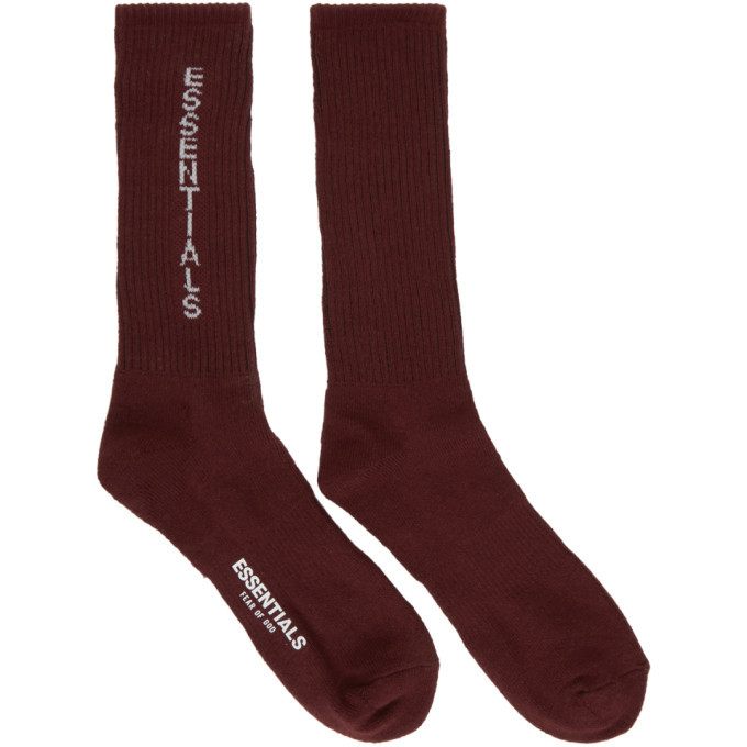 Photo: Essentials Burgundy Crew Socks