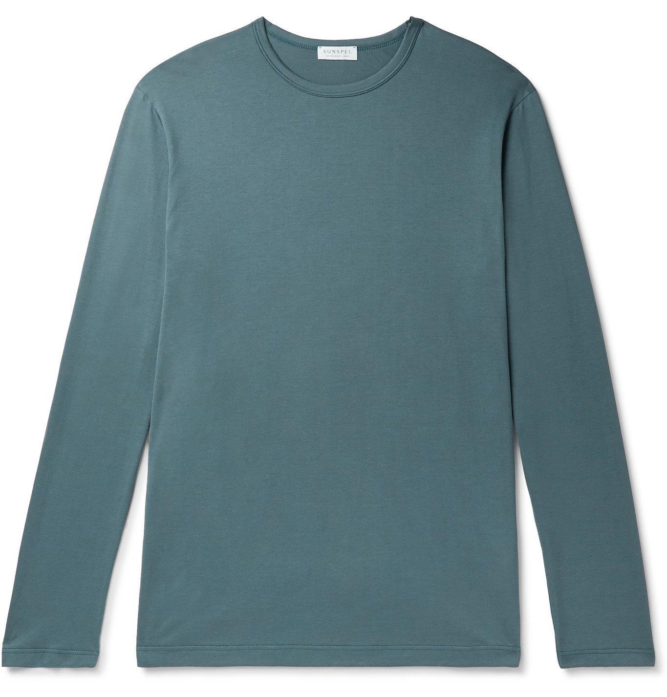 Photo: Sunspel - Cotton-Jersey T-Shirt - Blue