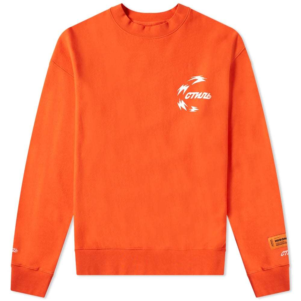 Photo: Heron Preston Chinese Heron Crew Sweat Coral Red