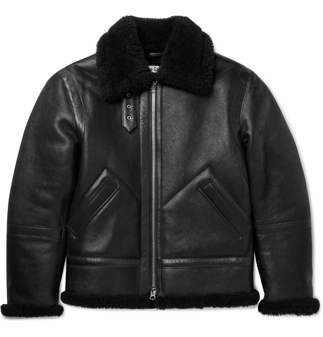 Photo: Acne Studios - Shearling-Lined Full-Grain Leather Jacket - Black