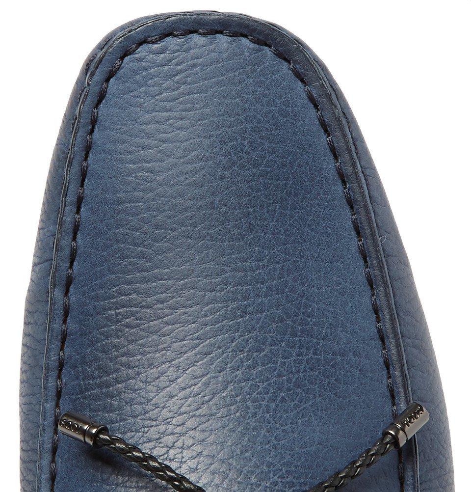 Tod's - Gommino Full-Grain Nubuck Driving Shoes - Blue
