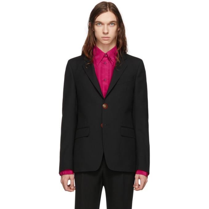 Photo: Givenchy Black Wool Single Breasted Blazer