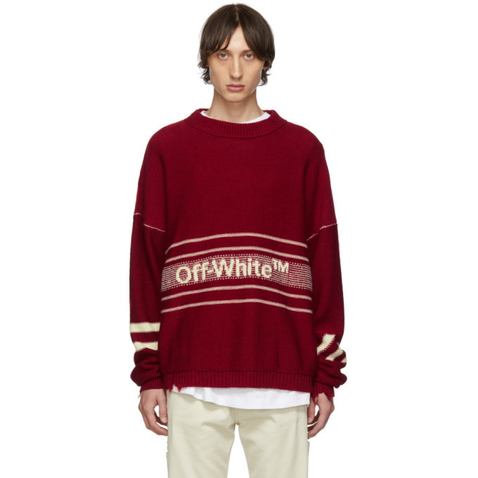 Photo: Off-White SSENSE Exclusive Red Logo Sweater