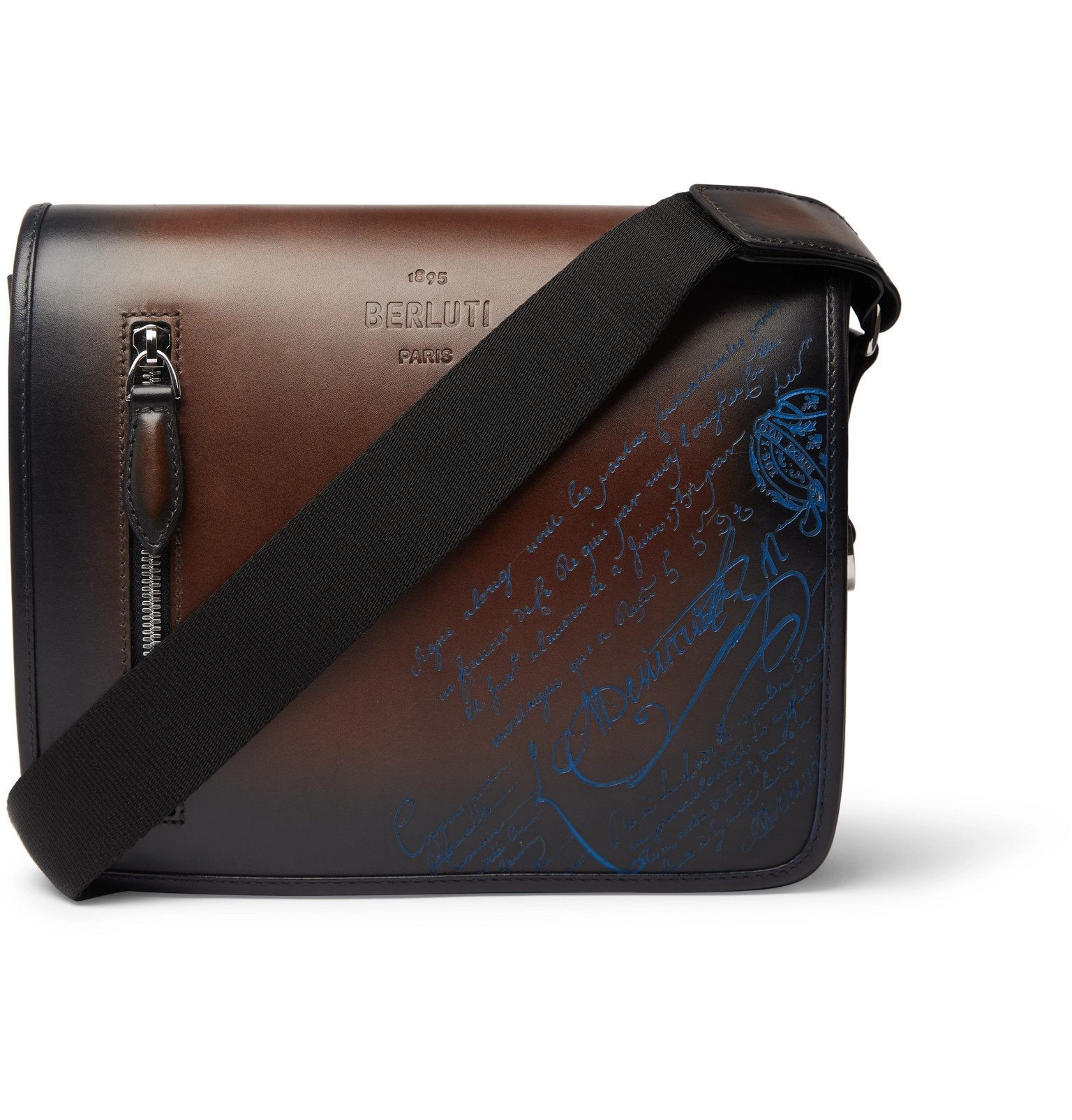 Photo: Berluti - Scritto Venezia Leather Messenger Bag - Blue