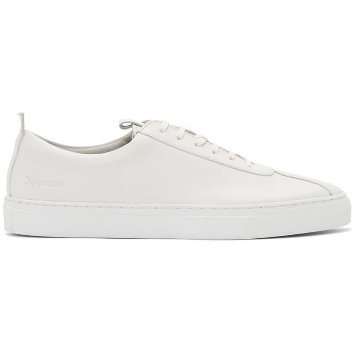 Photo: Grenson White Leather Sneakers