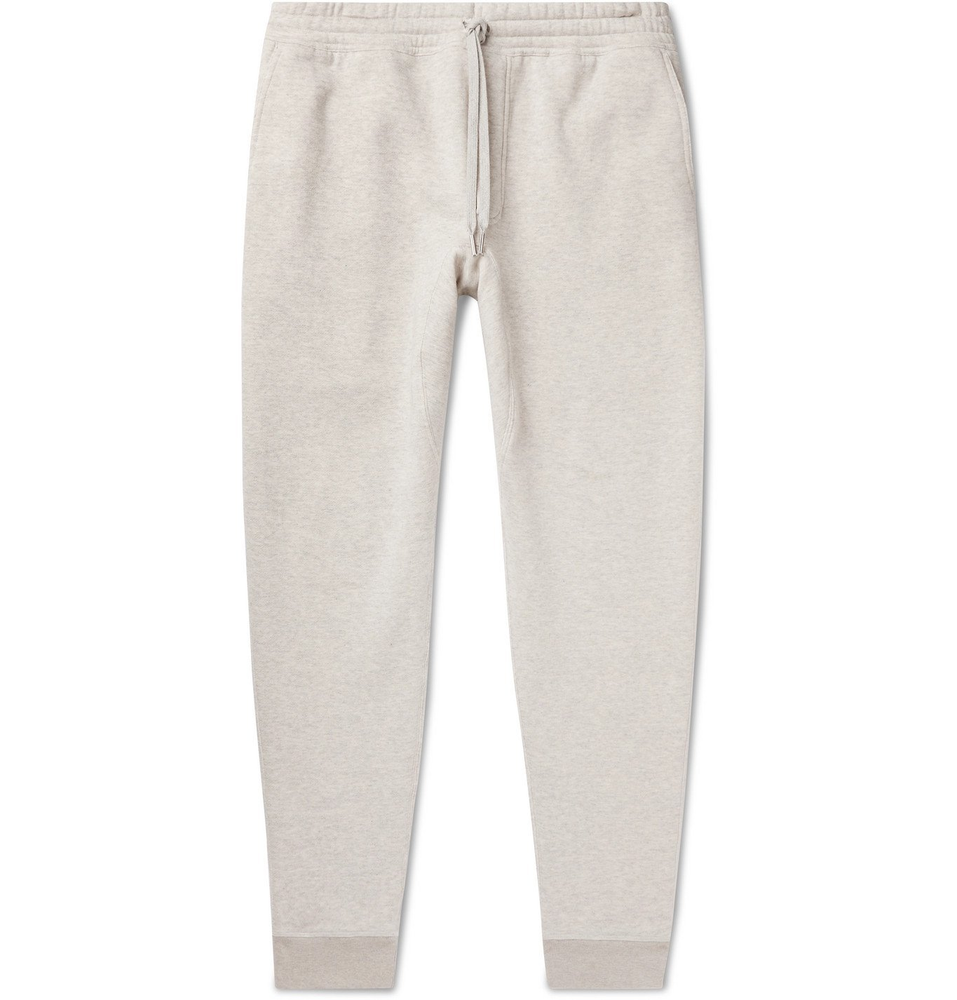 Photo: TOM FORD - Tapered Garment-Dyed Fleece-Back Cotton-Jersey Sweatpants - Gray