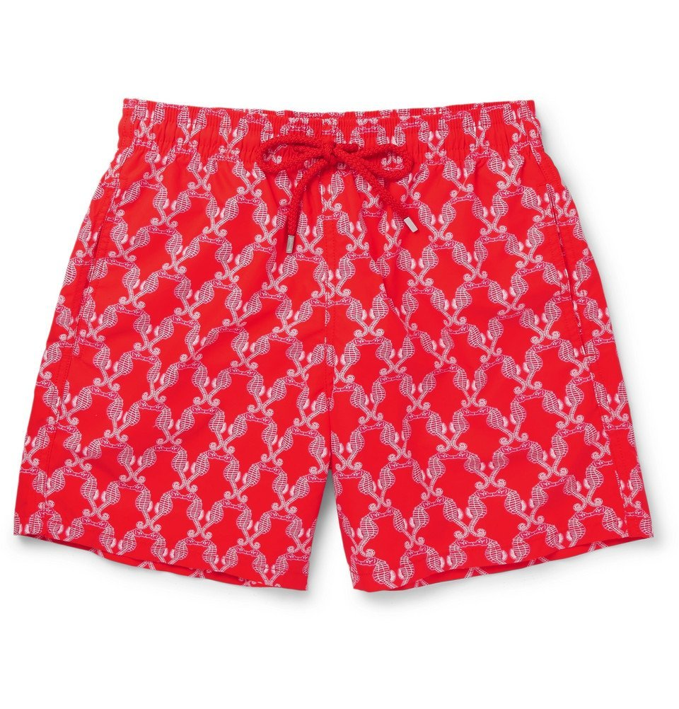 Photo: Vilebrequin - Moorea Mid-Length Printed Swim Shorts - Men - Red