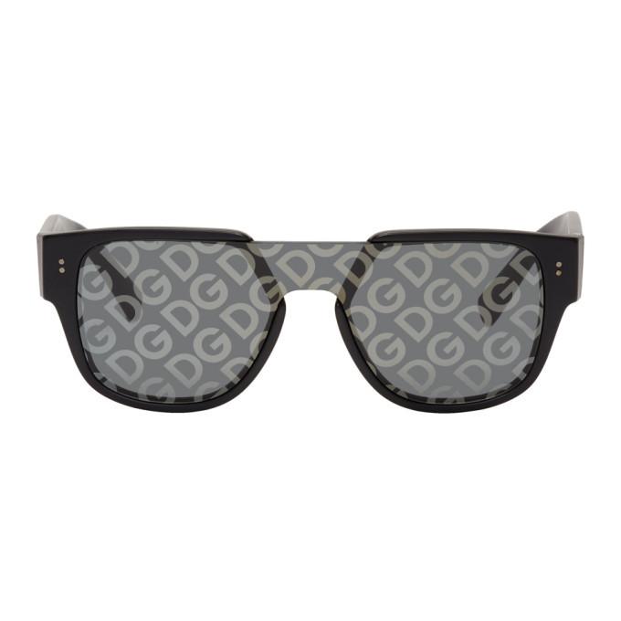 Photo: Dolce and Gabbana Black Domenico Mask Sunglasses