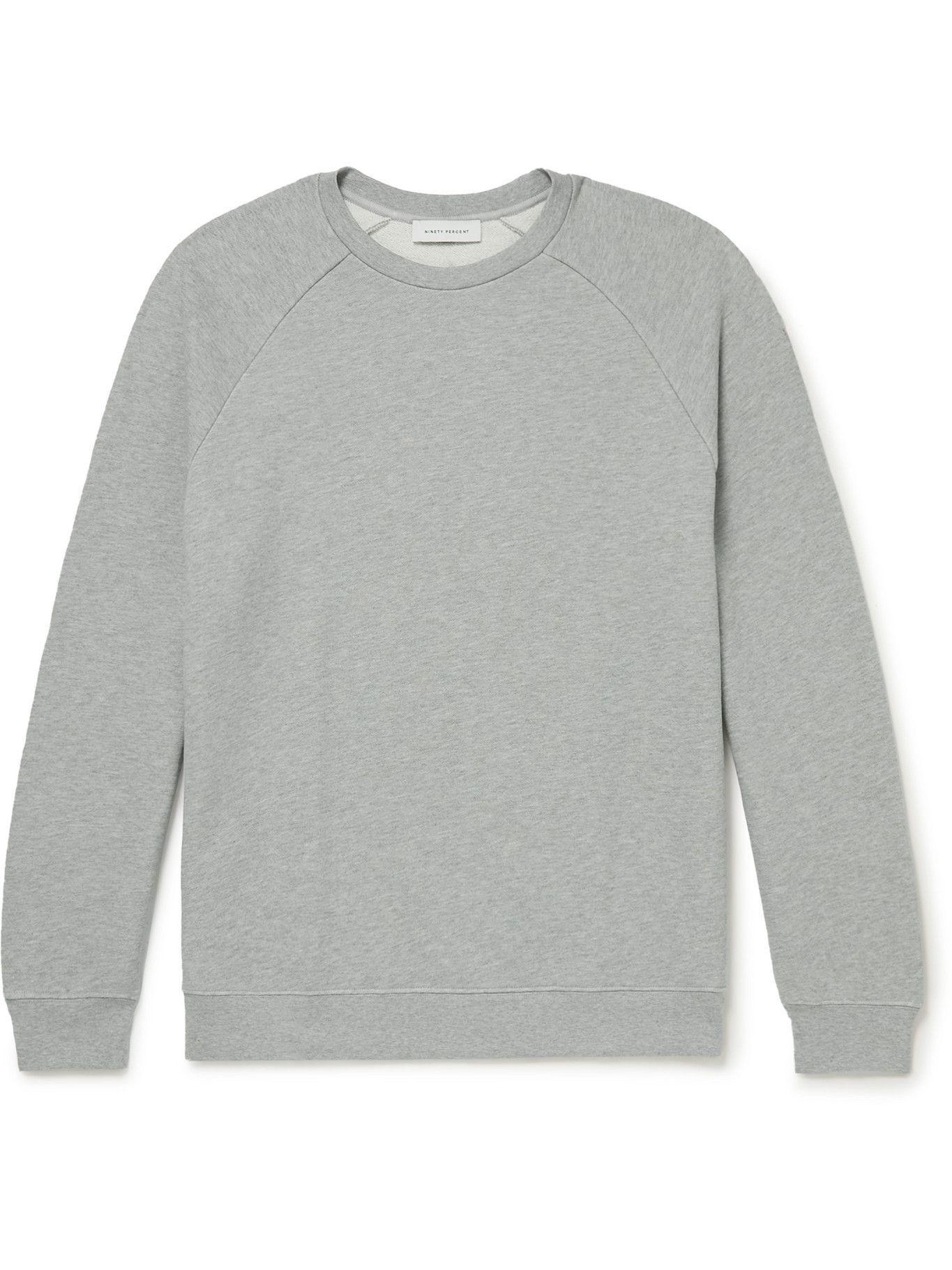 Photo: Ninety Percent - Organic Cotton-Jersey Sweatshirt - Gray
