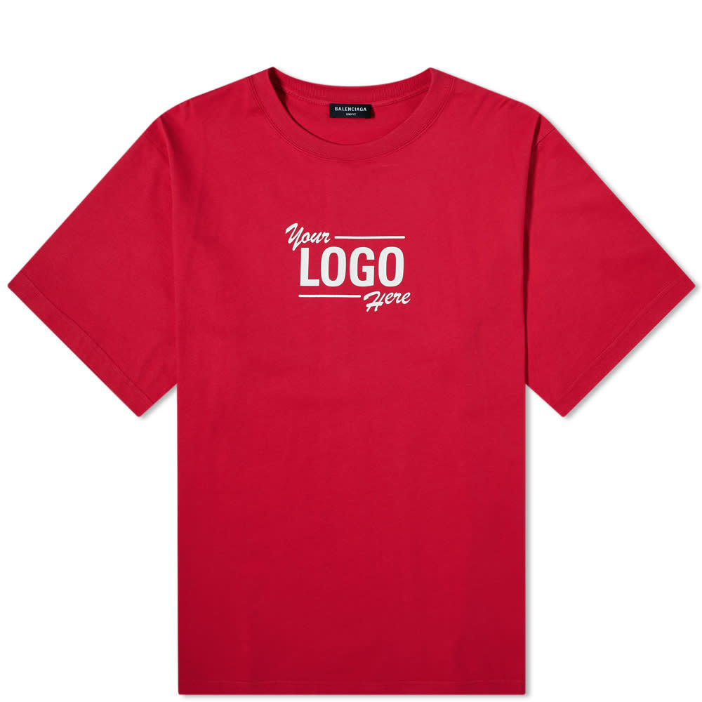 Photo: Balenciaga Your Logo Here Oversized Tee