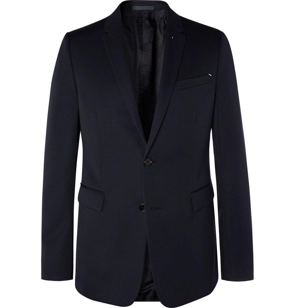 Photo: Berluti - Midnight-Blue Slim-Fit Wool-Twill Suit Jacket - Navy