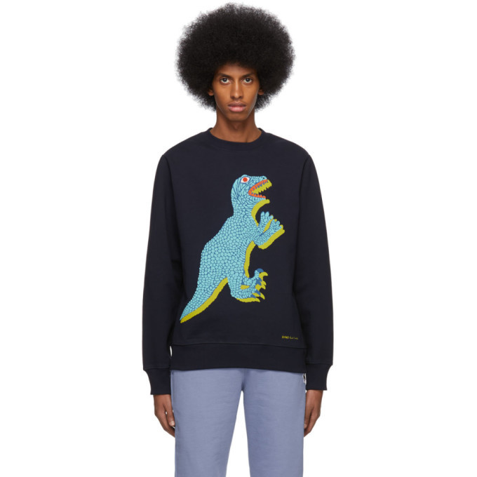 Photo: PS by Paul Smith Navy Big Dino Sweatshirt