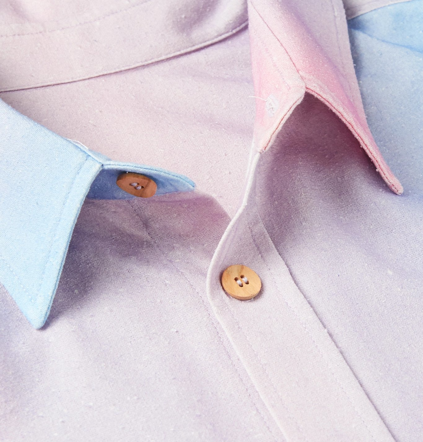 The Elder Statesman - Printed Slub Silk Shirt - Multi