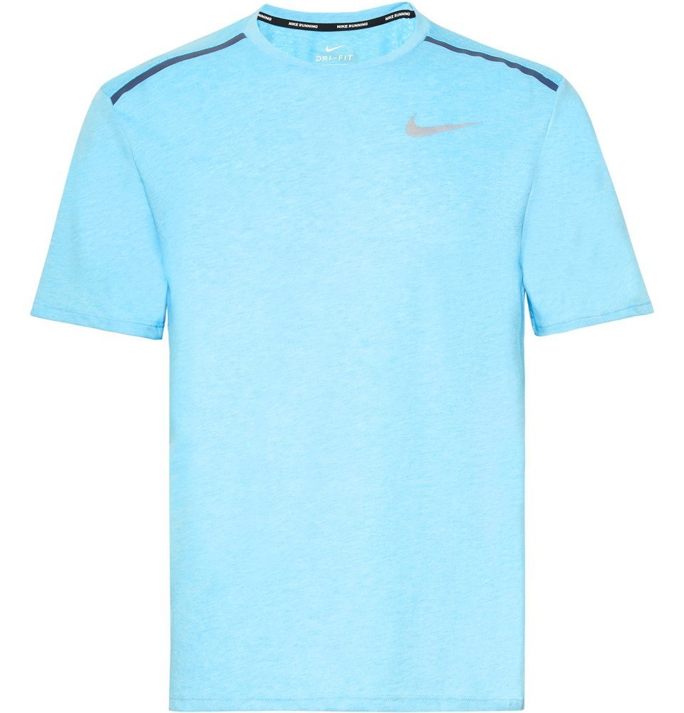 Nike Running - Rise 365 Perforated Mélange Dri-FIT T-Shirt - Men - Blue