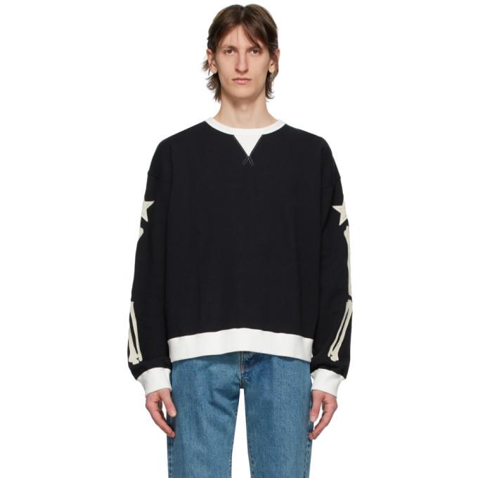 Photo: Poggys Box Black Bone Crewneck Sweater