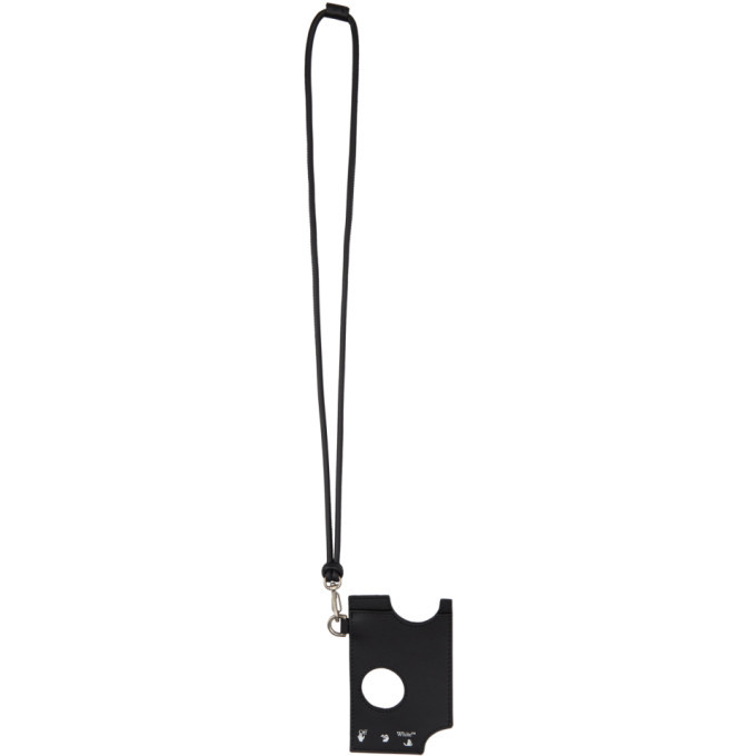 Photo: Off-White Black Leather Hole Card Holder