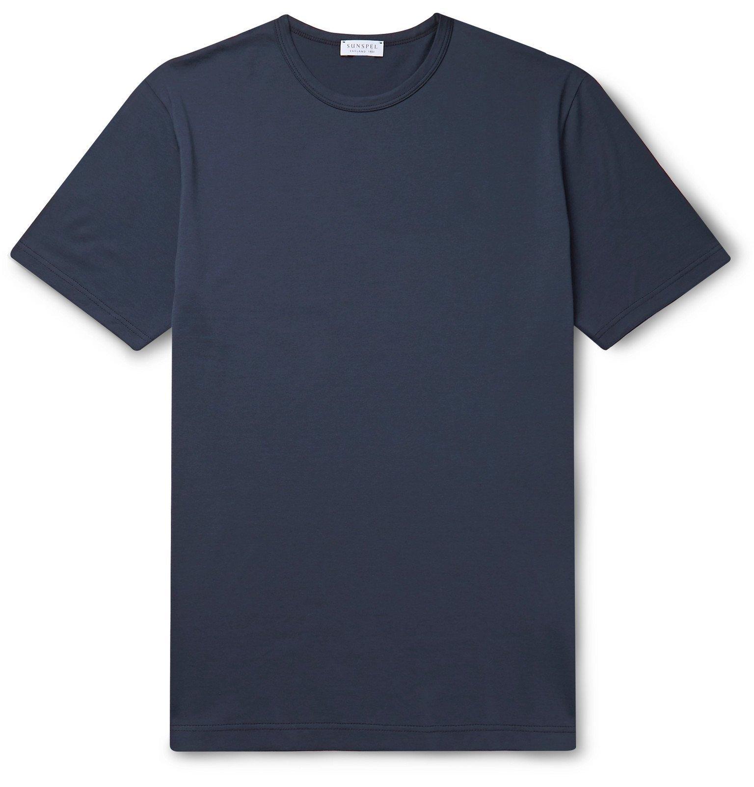 Sunspel - Cotton-Jersey T-Shirt - Blue