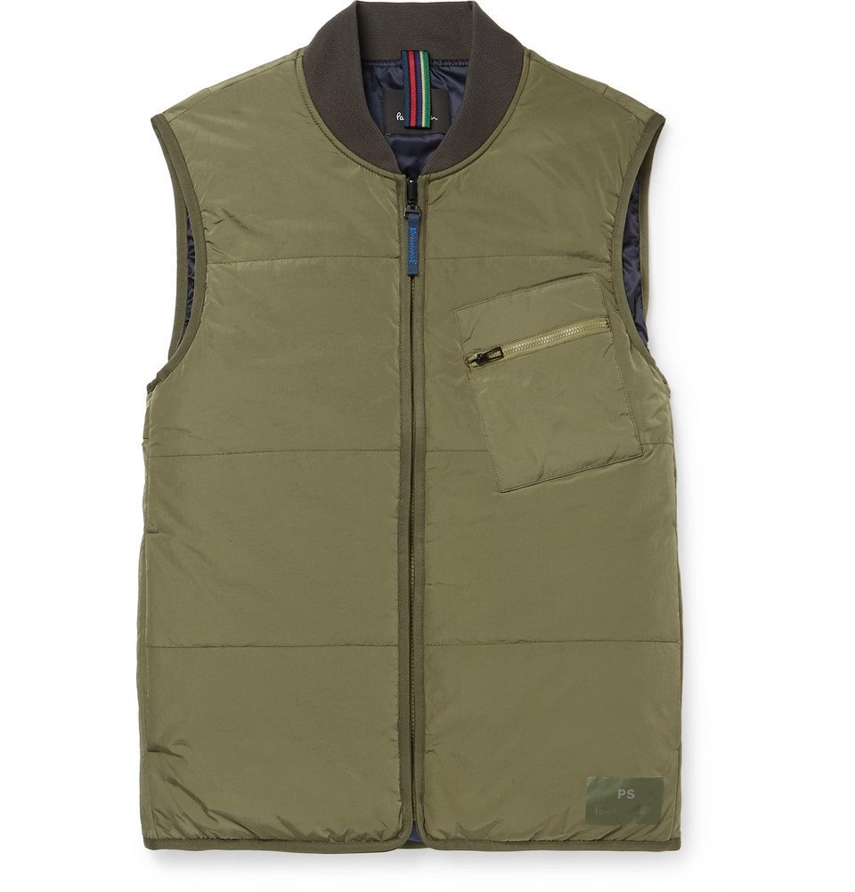 Photo: PS by Paul Smith - Quilted Shell Gilet - Men - Green