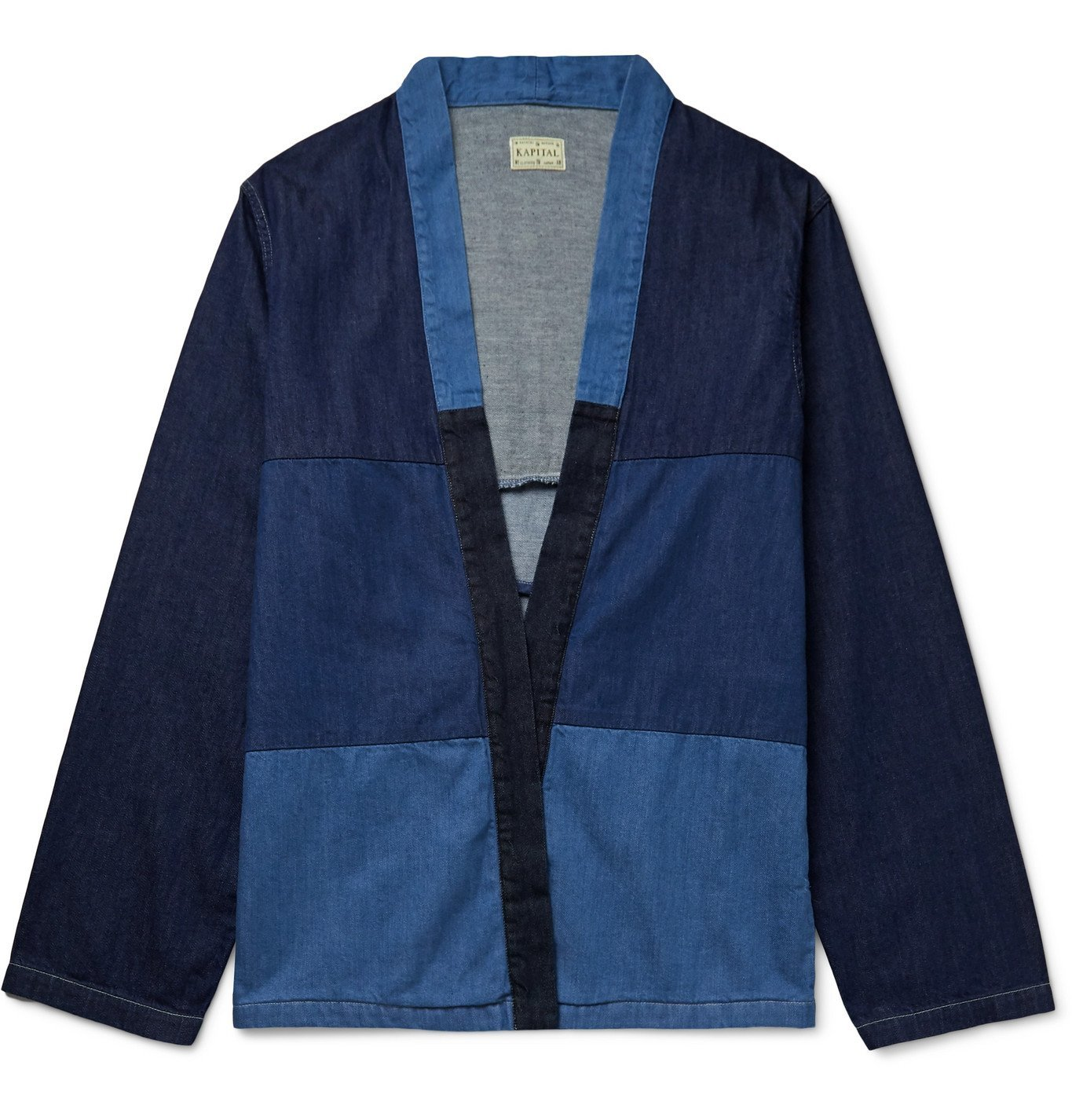 Photo: KAPITAL - Patchwork Denim Jacket - Blue