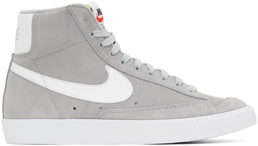 Photo: Nike Grey Suede Blazer Mid '77 Sneakers