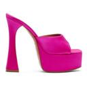 Amina Muaddi Pink Dalida Heeled Sandals