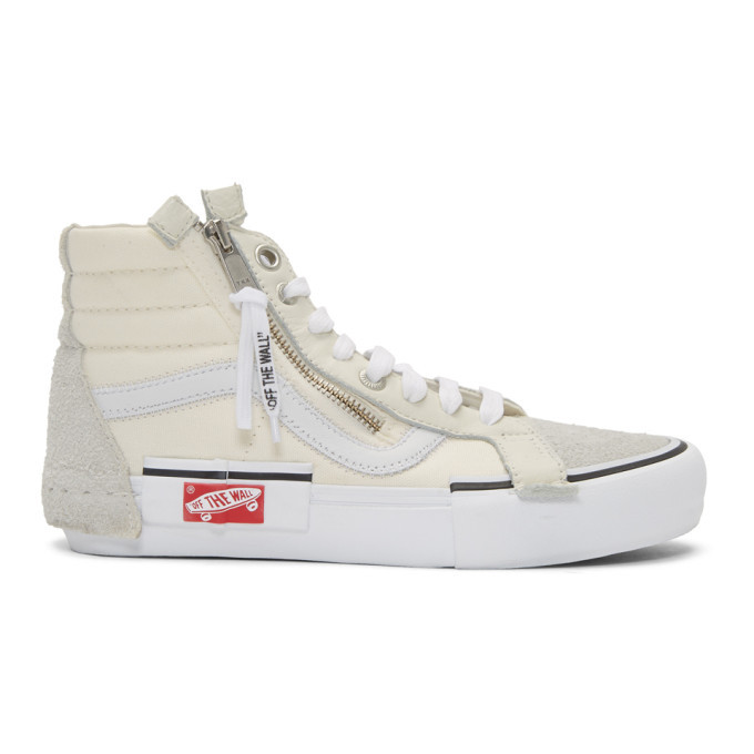 Photo: Vans Beige Sk8-Hi Cap LX Sneakers