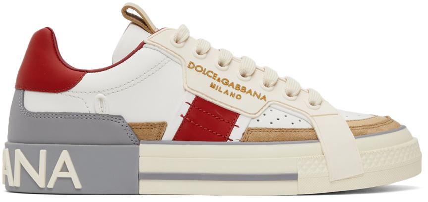 Photo: Dolce & Gabbana Custom 2.Zero Calfskin Low-Top Sneakers