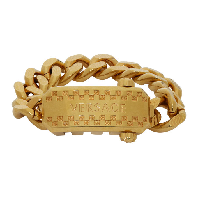Photo: Versace Gold Cuban Link Bracelet